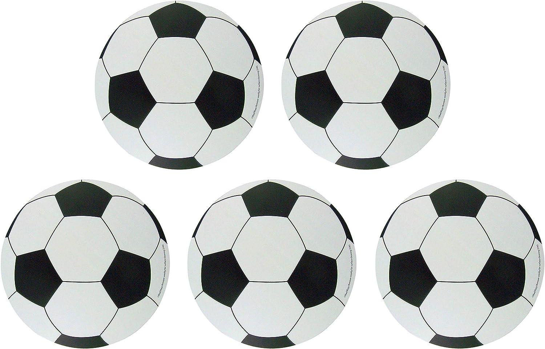 Car Magnet Sports Athlete Soccer Ball Magnetic Decal for School Locker, or Fridge, Pack of 5