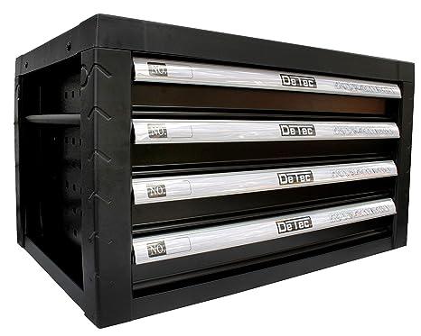 vacías Caja de herramientas en negro | detec. Caja de herramientas con 4 cajones