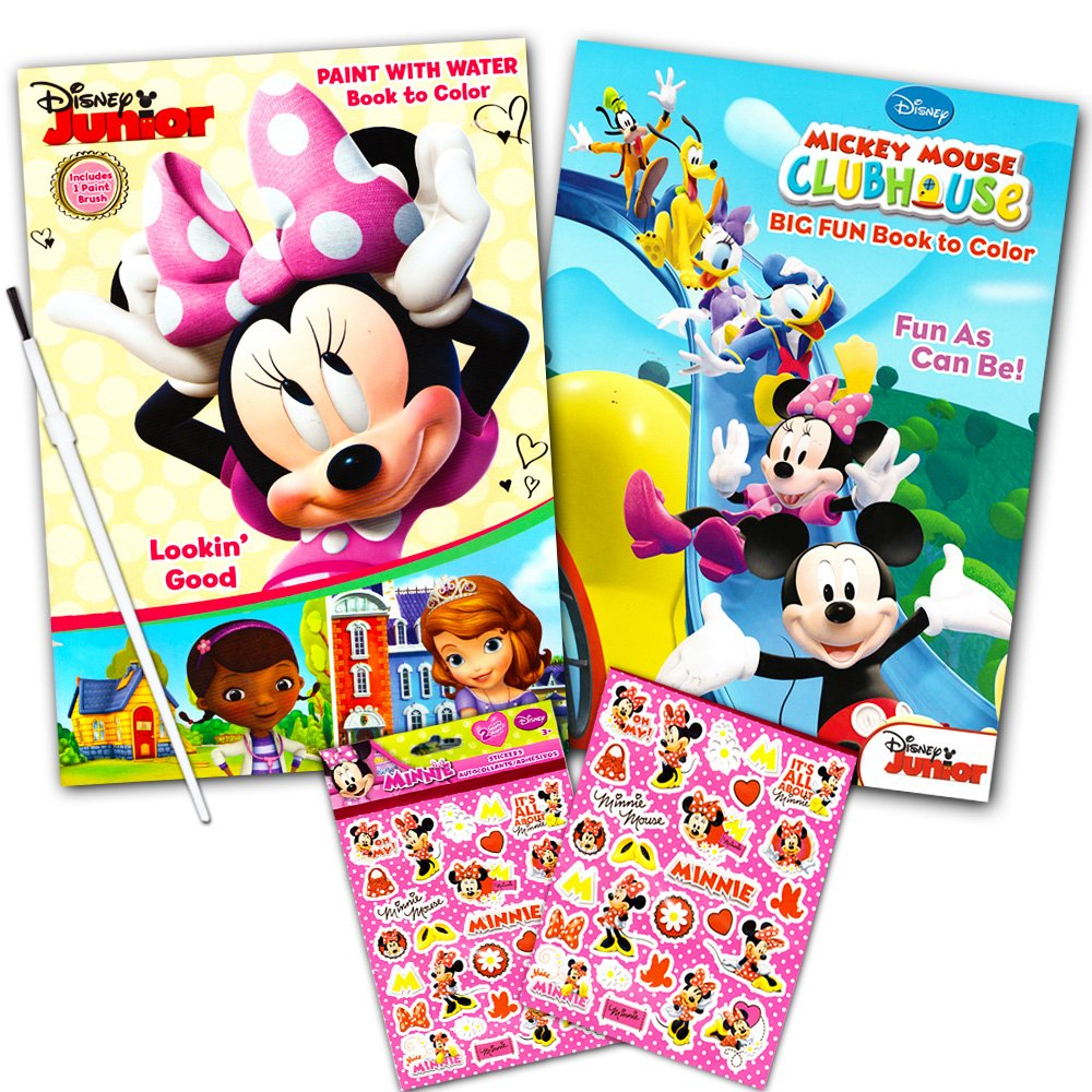 Disney Minnie Mouse Paint With Water Super Set Kids Toddlers Mess Free Book
