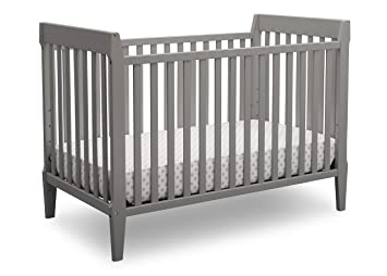 Serta Mid Century Modern Classic 5-in-1 Convertible Baby Crib, Grey