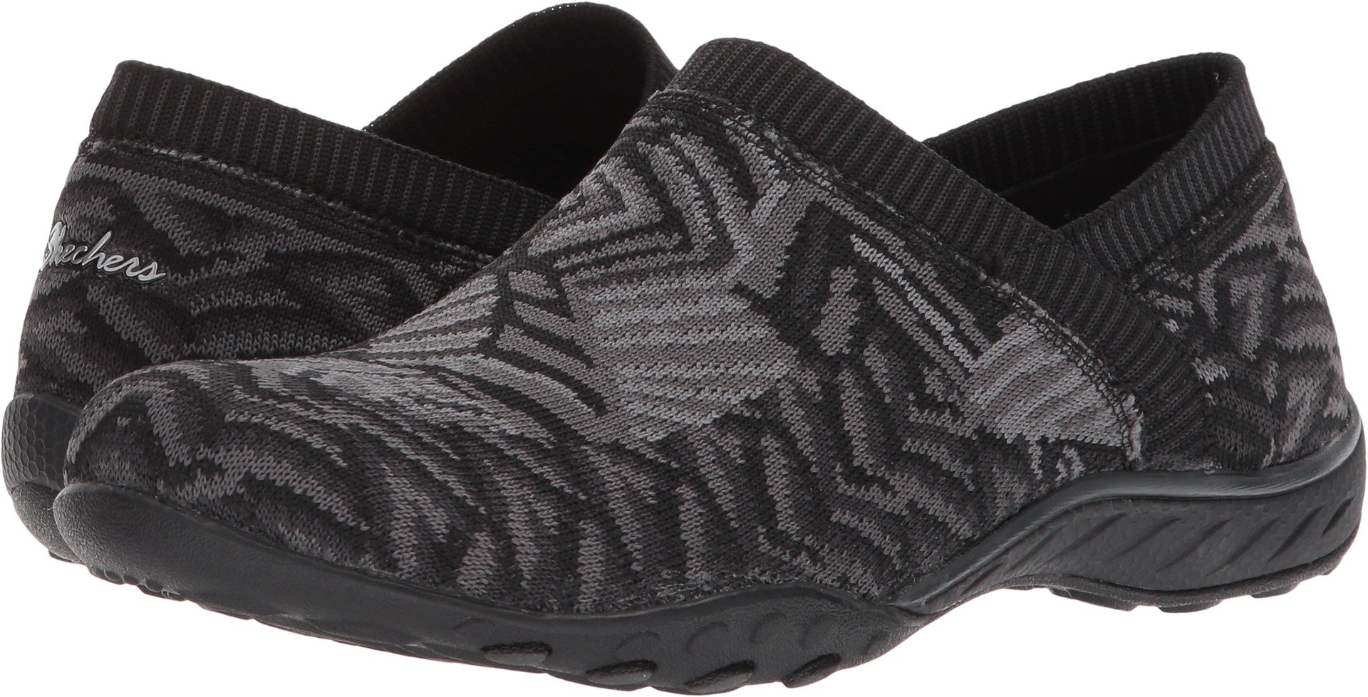 Skechers Women's Breathe-Easy - Lassie Black/Gray 7.5 B US by Skechers (Image #1)