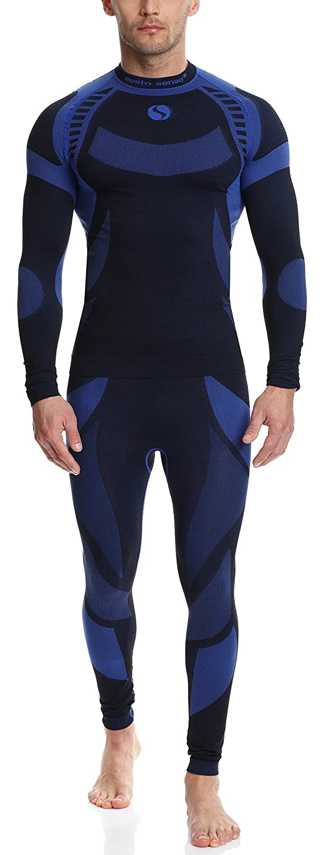 Sesto Senso Herren Funktionsunterwäsche Set langarm Shirt lange Unterhose Thermoaktiv