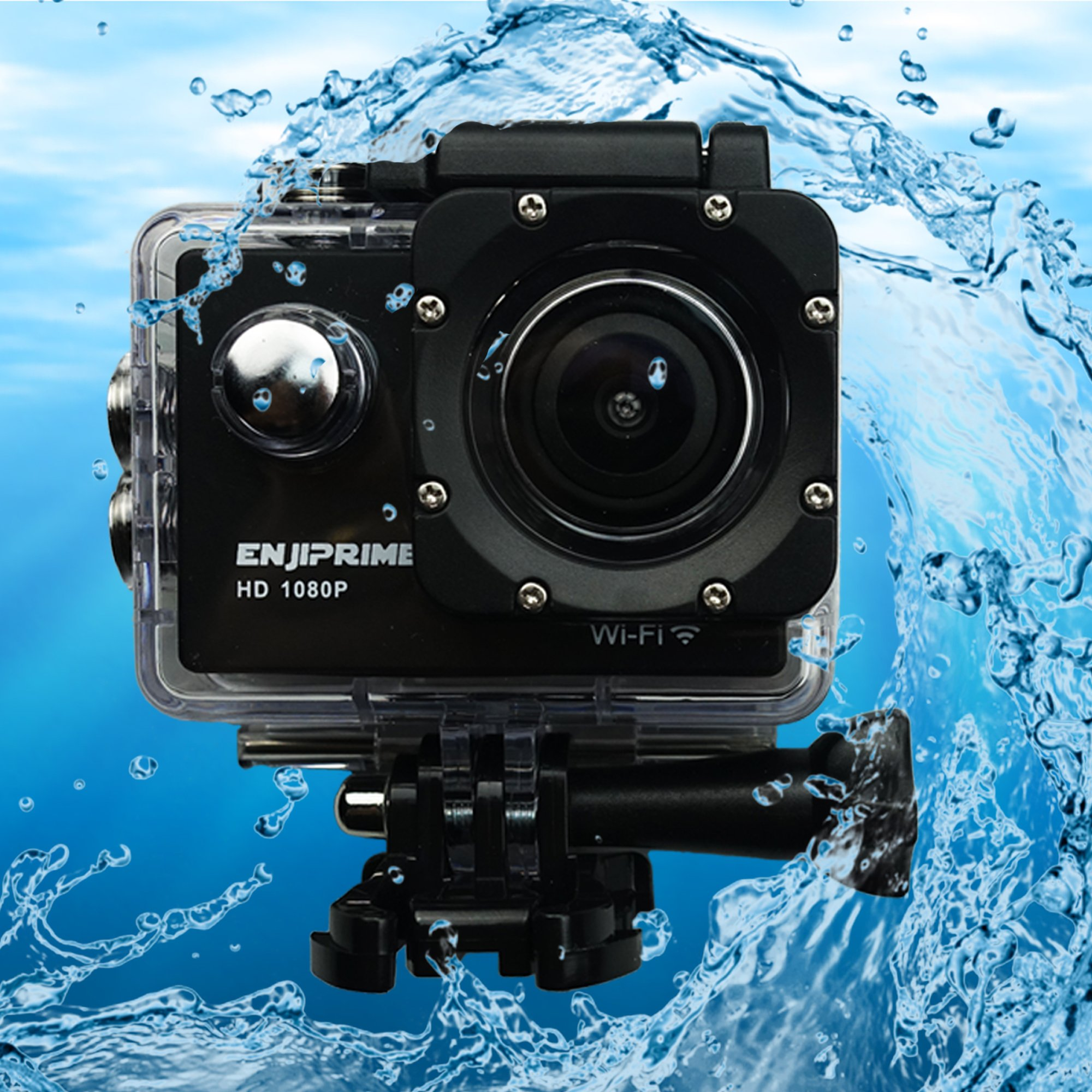 WIFI Mini Sports Action Camera - Ultra HD 1080P Waterproof Camcorder 2.0 Inch LCD Display 120 Degree Wide Angle Lens with Outdoor Mounting Accessories