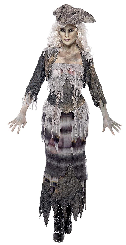 Smiffys Disfraz de mujer fantasma Ghost Ship, con parte de arriba, falda, chaqueta y som: Amazon.es: Juguetes y juegos