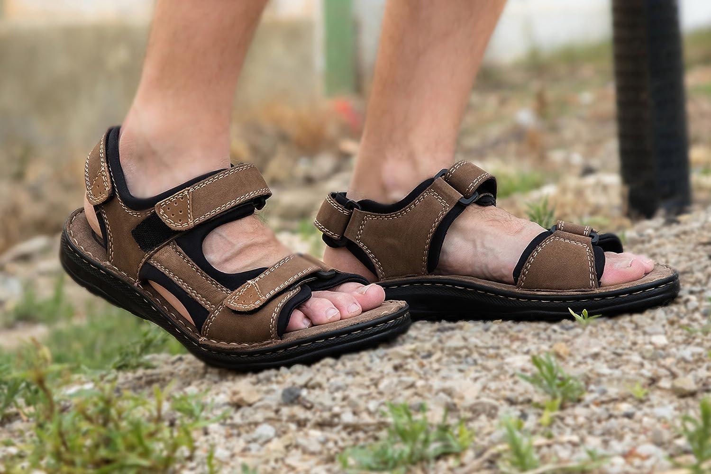 Zerimar Herren Sandalen     Trekking Sandalen für Herren   Sandalen Mann Wandern   Herren Ledersandalen   Männer Sommer Sandalen  606ca1