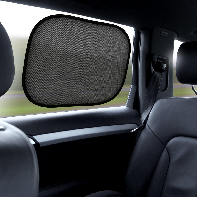 iGadgitz 2 Pack Fold Up Universal Car Window Shades Sun UV Blinds Sunshade Easy Installation Baby Kids Pets Protection