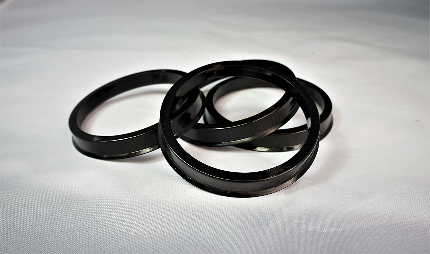 Customadeonly 4 Pieces Polycarbonate Hub Centric Rings 74.1mm Wheel Bore to 72.56mm Factory Hub