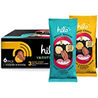 Hilo Life Keto Friendly Low Carb Snack Mix, Really Ranchy & Super Cheesy 2 Flavor Variety Pack, 1.48oz Pouches (6 Pack)