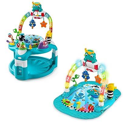 0071b6b98 Amazon.com  Saucer Baby Einstein 2-in-1 Lights   Sea Activity Gym ...