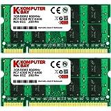 Komputerbay 4GB 2X 2GB DDR2 800MHz PC2-6300 PC2-6400 DDR2 800 (200 PIN) SODIMM Memoria computer portatile