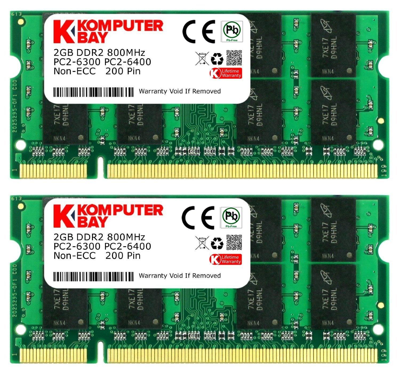 Komputerbay 4gb 2x2gb Ddr2 800mhz Pc2 6300 6400 Memori Pc Kingston 2gb Computer Zubehr