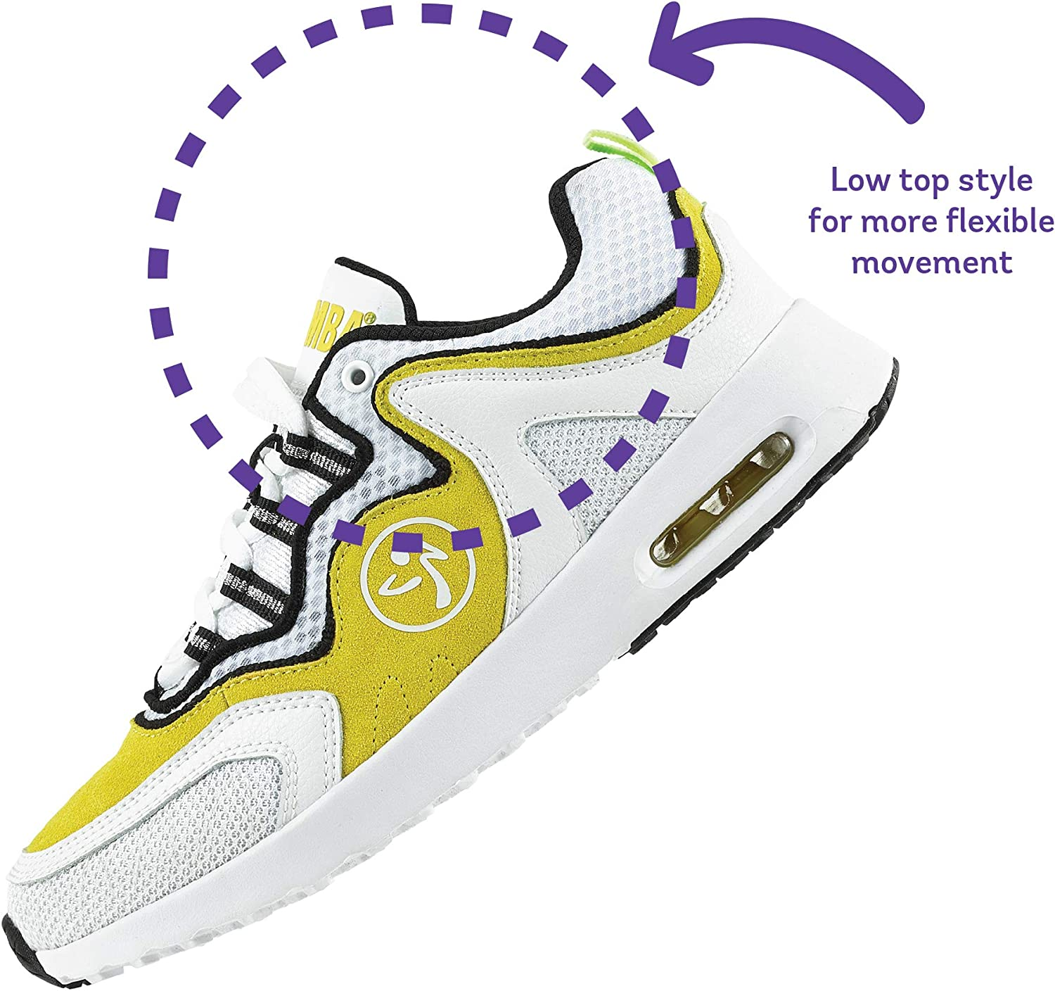 Zumba Athletic Air Classic Gym Fitness Sneakers Dance Workout Shoes for Women Yellow hsz5yn