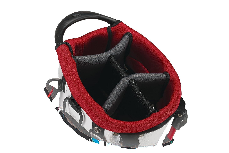 Amazon com callaway 2015 aqua dry golf stand bag white red black sports outdoors