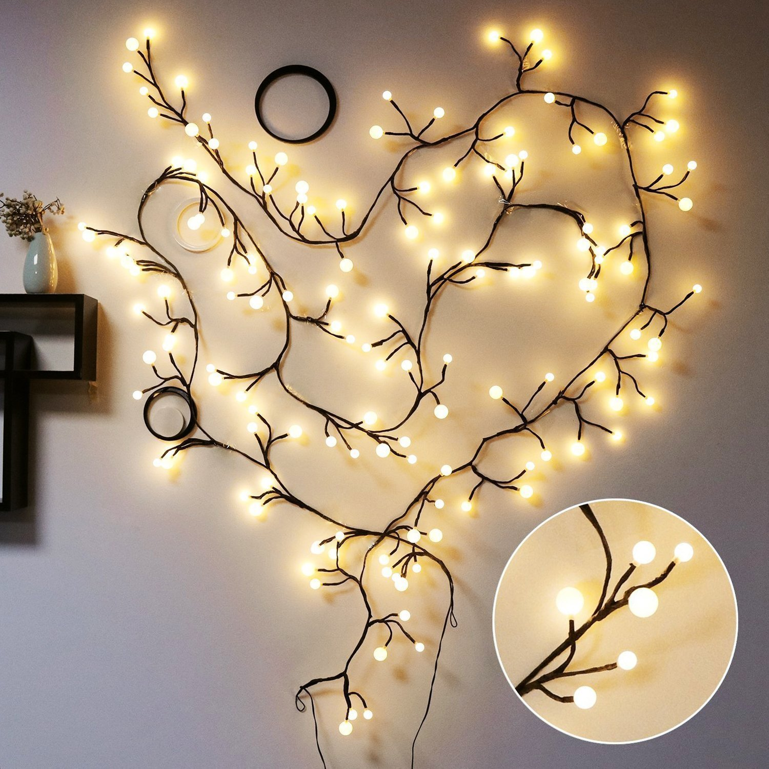 Decorative Fairy Lights, Globe String Light,  Gangdise LED String Lights with 72 Bulbs IP65 Waterproof Fairy Lights for Patio, Garden, Cafe Store,Wedding,Party