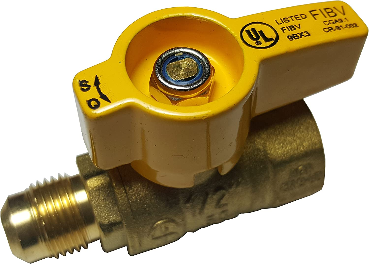NIGO 2450DE Series Forged Brass Ball Valve 1//2 Female x 3//8 Flare Rated to 600WOG Rated to 600WOG Nigo Industrial Co. 1//2 Female x 3//8 Flare Standard Port
