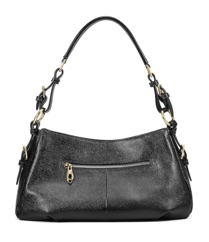 Kattee Ladies Vintage Leather Hobo Shoulder Handbag XB071BK