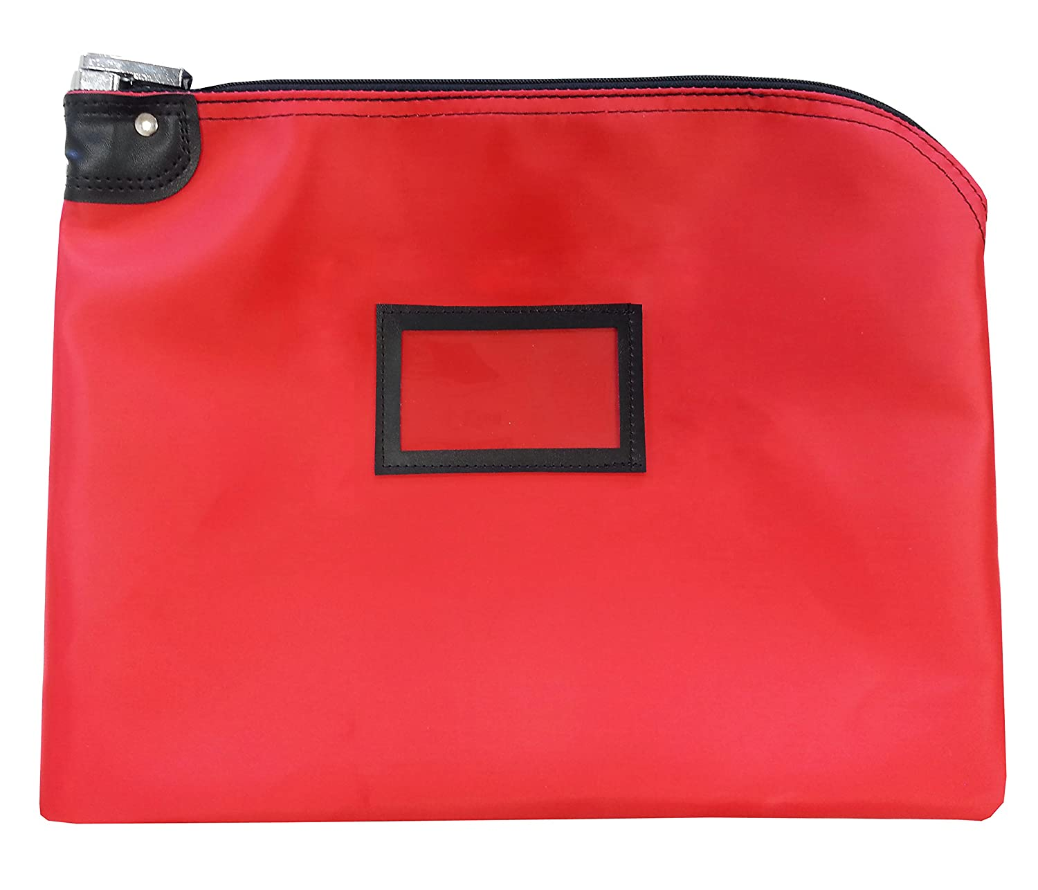Locking Document HIPAA Bag 15 x 19 | Medical File Security | Legal Size Records Courier Bag (Burgundy) Cardinal Bag Supplies