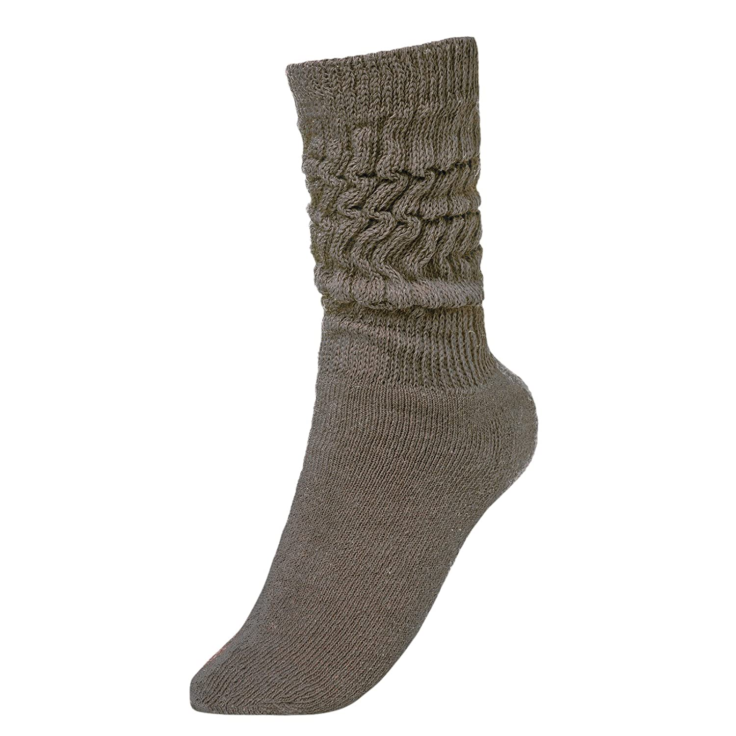 BRUBAKER Womens Or Mens Fitness Workout Slouch Socks Gym