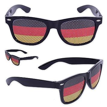 10 x Fanbrille Deutschland - Rot qdymu