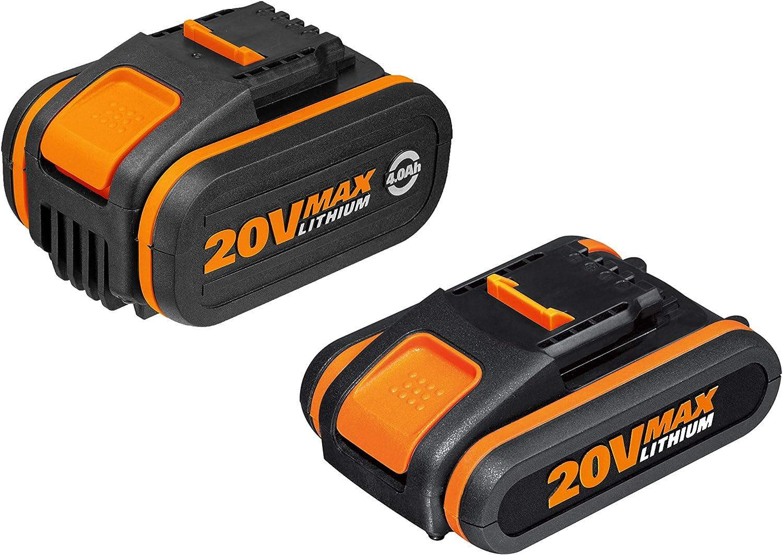 Worx WA3605 Baterías, 80 W, 20 V, Set de 2 Piezas