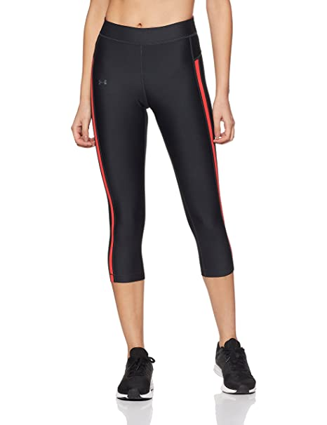 c0964f9e46927 Under Armour HeatGear Armour Cool Switch Capri Women's Sports Leggings  (1294069-016_Anthracite_X-Small