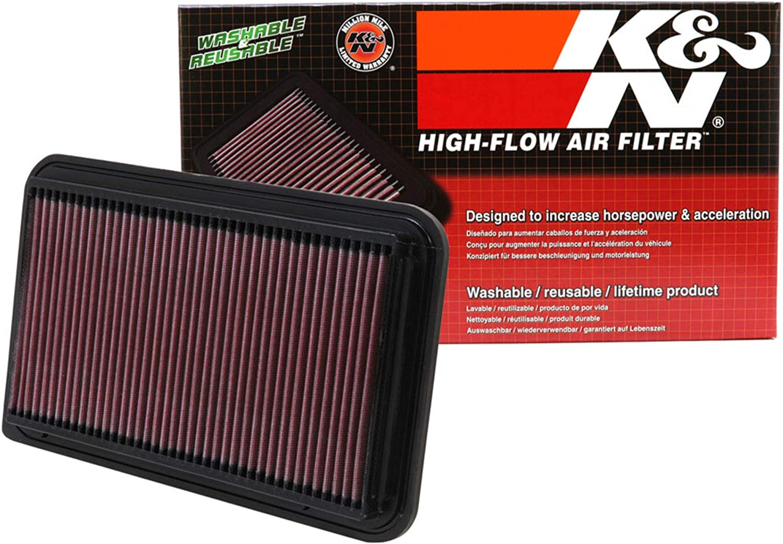 K&N engine air filter, washable and reusable:2001-2014 Toyota/Lexus (Kluger, Highlander, Camry Hybrid, Sienna, Alphard, Harrier, Solara, Wisdom, ES 300, RX 300) 33-2260