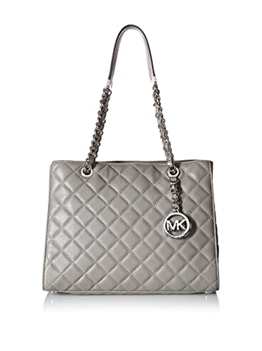 61c3a166b78cc7 Amazon.com: MICHAEL MICHAEL KORS Susannah Quilted Leather Tote (Steel  Grey): Shoes
