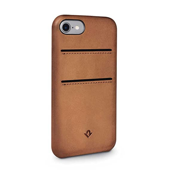check out 14ad2 712f6 Twelve South Relaxed Leather Case for iPhone 8/ 7/ 6   Hand Burnished  Leather Wallet Shell (cognac)
