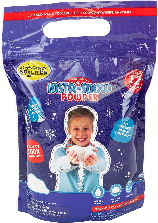 K/ünstlicher Schnee LA GUAPA Instant Snow Fluffy Slime Urlaubs- und Winter Deko K/ünstlich Schnee Magie Schneepulver Premium Kunstschnee Deko 4pc