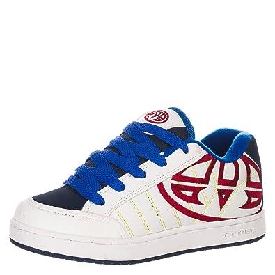 Animal - Zapatillas Skate acolchadas Modelo Mitch para niños (37 EU/Blanco)