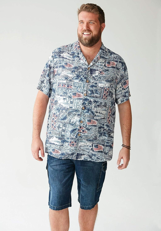 Liberty Blues Mens Big /& Tall Americana Rayon Shirt