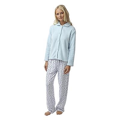 Veste Pyjama Polaire Douce pour FemmeRose pastel, Bleu pastel ou Lilas pastel.Tailles 38-40 àau 52-54
