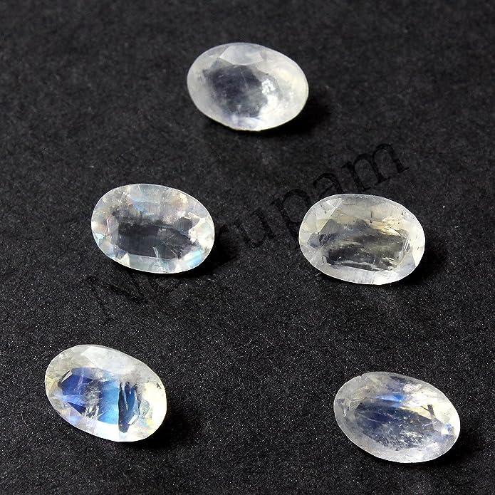 Neerupam Collection Naturelle Russie M/élanite Spinale Noire AA Qualit/é 6x4 mm Taille Facettes Ovale Forme Pierres pr/écieuses en Vrac
