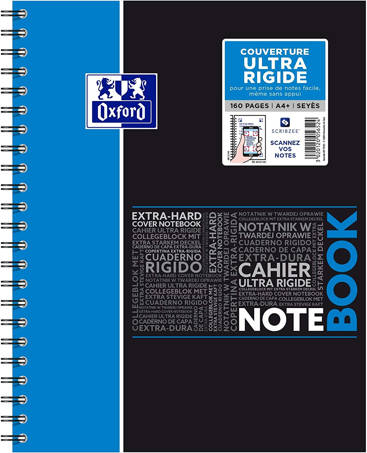 Deluxe Oxford wholesale NoteBook Spiral-Bound Notebook A4+ 160 Pages Square Large