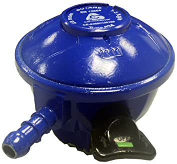 Cavagna Unisex Clip en 21 mm regulador de butano para bombonas de Gas 28 mbar-