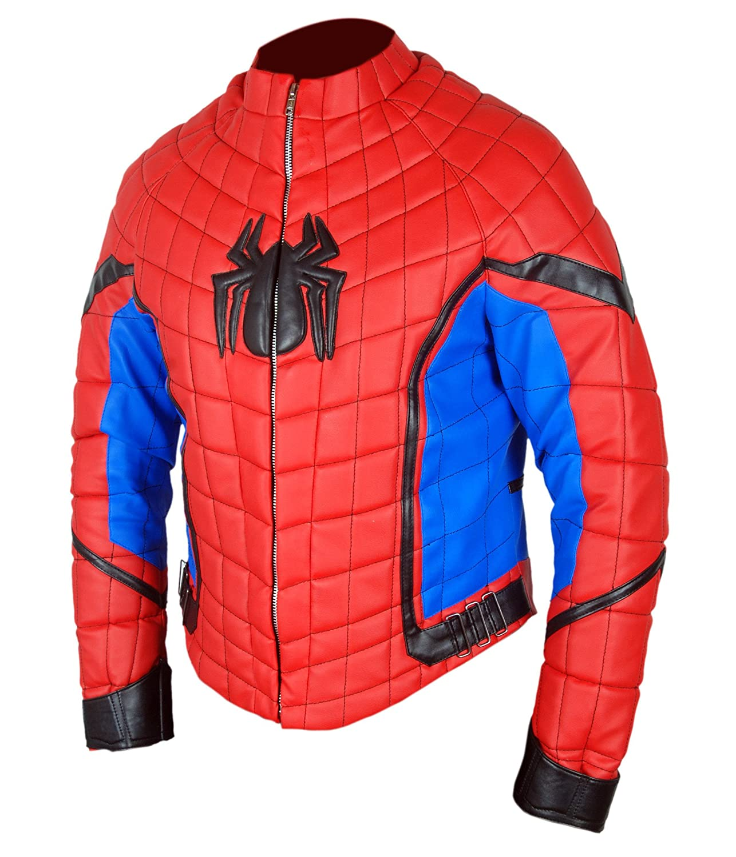 Amazon.com: F&H Kids Genuine Leather Spiderman Homecoming Tom Holland Jacket: Clothing