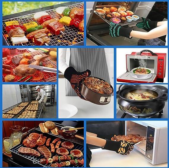 Guantes Resistentes Al Calor - Protección Para Manos Para Cocinar ...