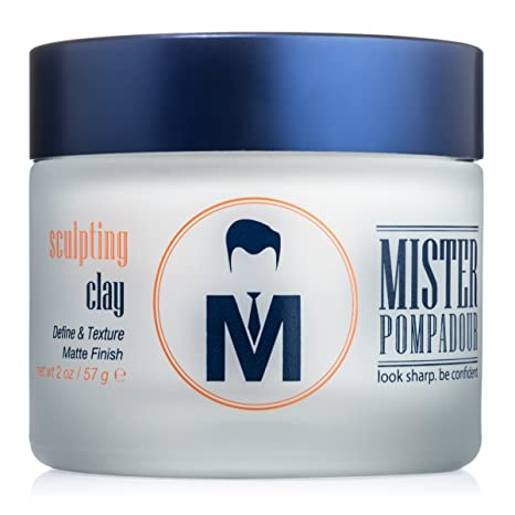 Delightful Mister Pompadour Sculpting Clay Best Hair Product For Men (And Women) 2oz  Medium Hold