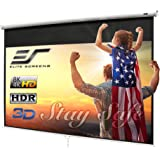 Elite Screens Manual B 100-INCH Manual Pull Down Projector Screen Diagonal 16:9 Diag 4K 8K 3D Ultra HDR HD Ready Home Theater