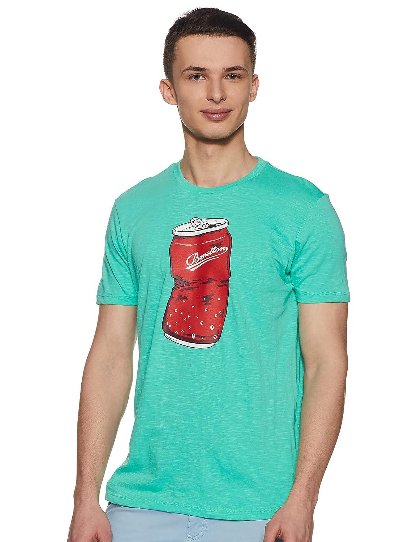 UnitedColorsofBenettonMensPrintedRegularfitT-Shirt