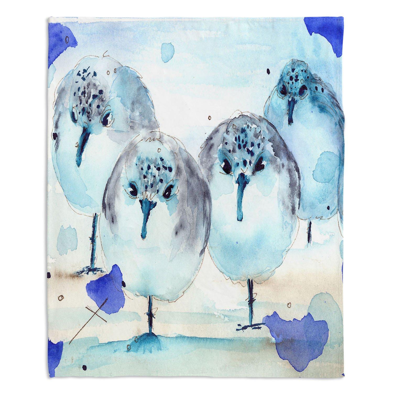 ブランケットウルトラソフトFuzzy 4サイズダイアノウチェデザインズ – Dawn Dermanホーム装飾寝室ソファまたはスローブランケット – Meet the sanderlings Large 80