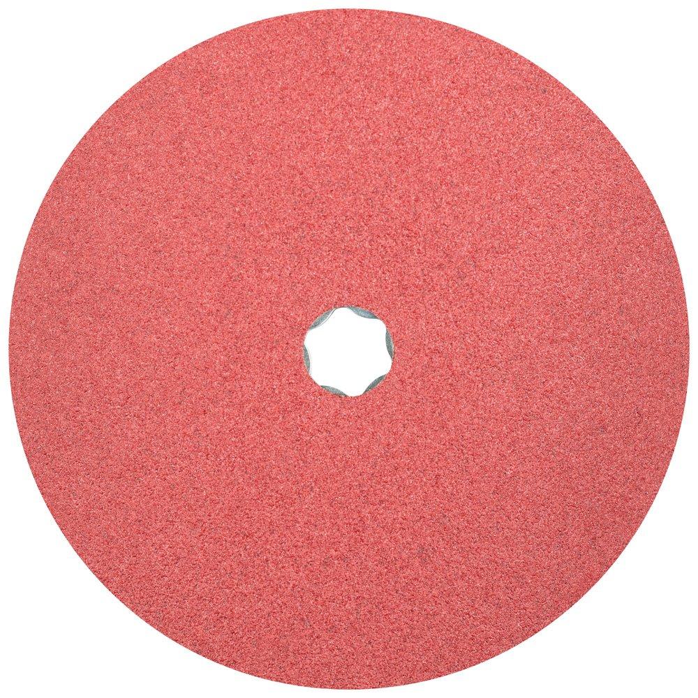 60 Grit PFERD 40721 Combiclick Fibre Disc Pack of 25 7 Diameter Ceramic Oxide CO 8500 RPM