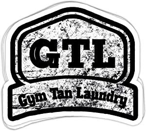 Maximili GTL- Gym Tan Laundry Cool Gym - 4x3 Vinyl Stickers, Laptop Decal, Water Bottle Sticker (Set of 3)