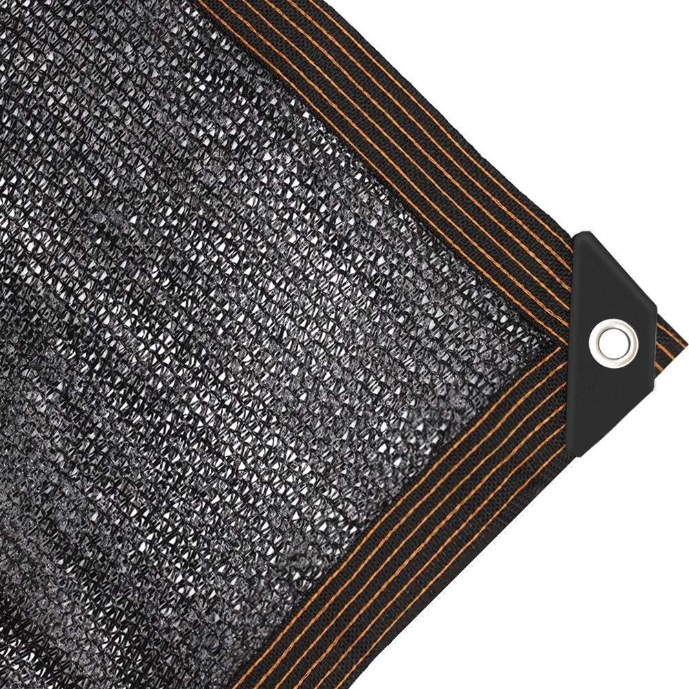 JIWINNER 65%-75% Black Sunblock Shade Cloth aped Edge Grommets Garden Flower Plant,Greenhouse, Barn Kennel (6.5'x10')