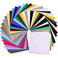 40-Pack Prime Permanent Self Adhesive Vinyl Sheets with 3 Transfer Tape