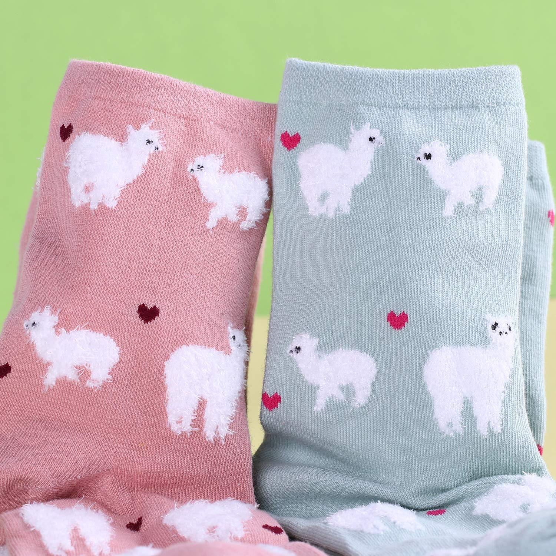 Belloxis Calcetines Mujer Calcetines Divertidos Dibujos Animales Algodon Colores Regalos