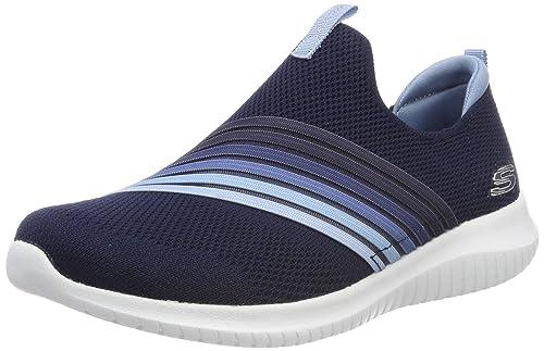 Skechers Ultra Flex-brightful Day, Zapatillas sin Cordones para Mujer: Amazon.es: Zapatos y complementos