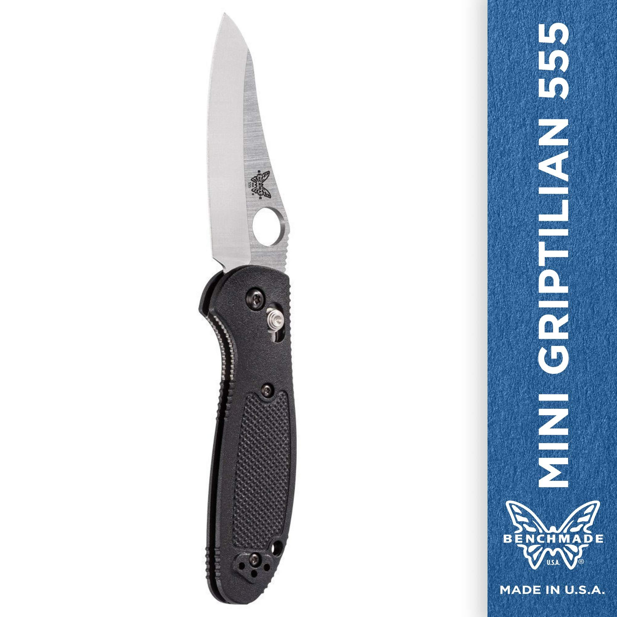 Benchmade Pardue Mini-griptilian 530v Steel Blade Knife - 555-s30v Satin Plain E by Benchmade