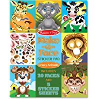 MELISSADOUG MAKE A FACE STICKER PAD CRAZY ANIMALS