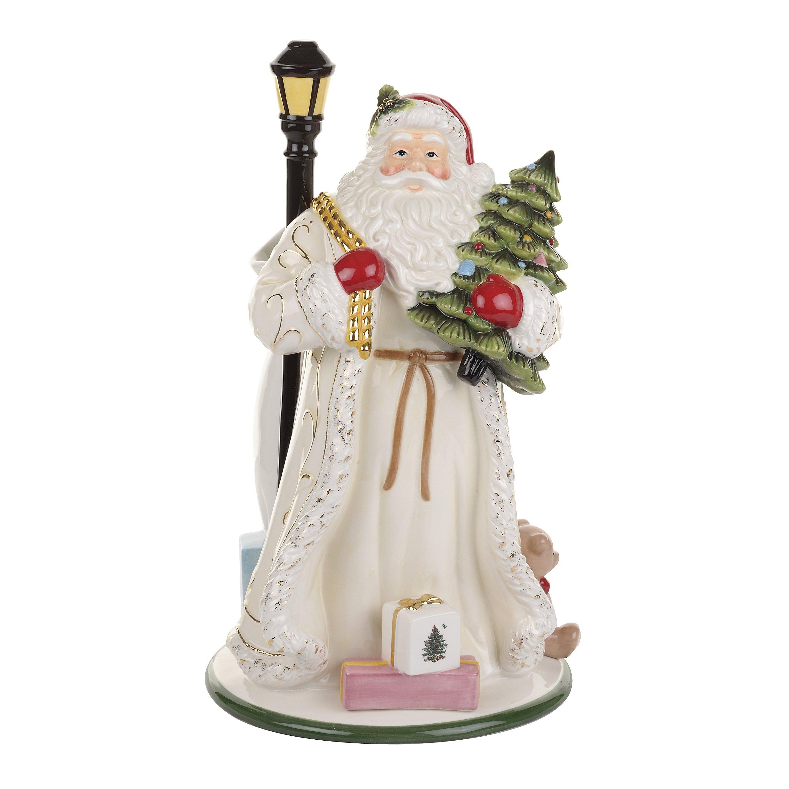 Spode Christmas Tree Santa Vase, Gold